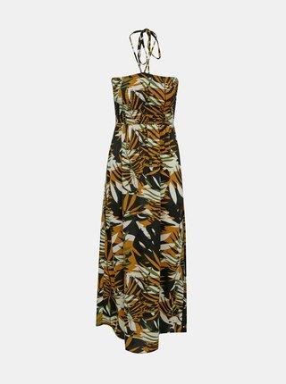 Hnědé vzorované šaty ONLY Libby