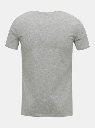 Šedé pánské basic tričko pod košili FILA