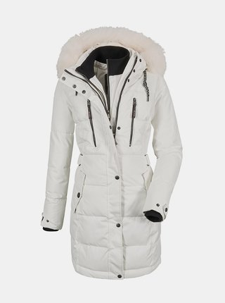 Biely dámsky prešívaný kabát killtec