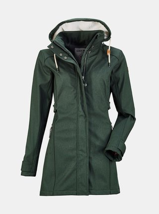 Tmavě zelený dámský kabát killtec
