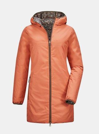 Oranžovo-hnedý dámsky obojstranný kabát killtec