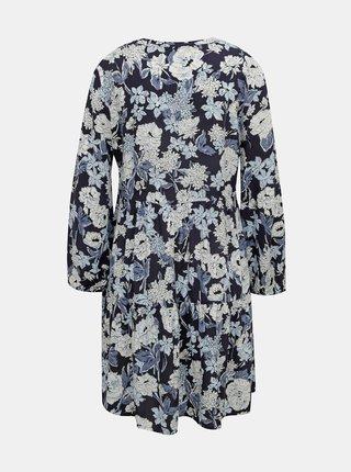 Tmavomodré kvetované šaty ONLY Nova