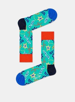 Sada dvou párů modrých ponožek Happy Socks Birthday