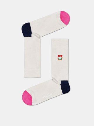 Krémové ponožky Happy Socks Happy Rainbow