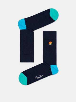 Tmavě modré ponožky Happy Socks Hamburger