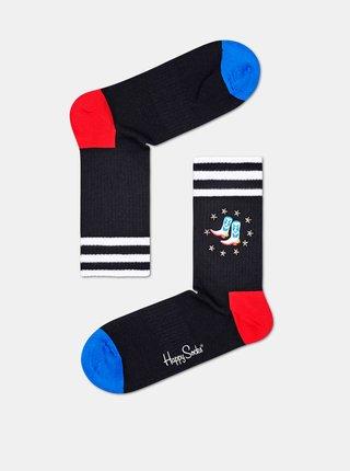 Černé ponožky Happy Socks Cowboy Boots