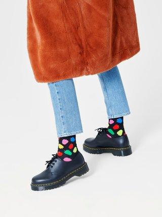 Černé vysoké ponožky Happy Socks