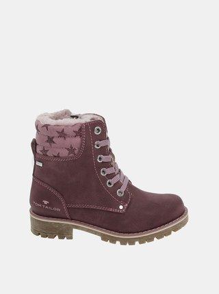 Ružové dievčenské zimné topánky Tom Tailor