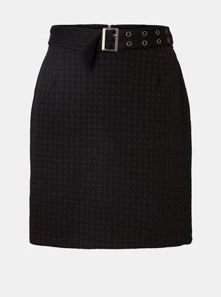 Černá vzorovaná sukně s páskem Noisy May Hound