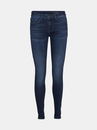 Tmavě modré skinny fit džíny Pieces Lucy