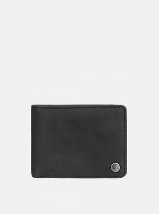 Čierna kožená peňaženka Quiksilver