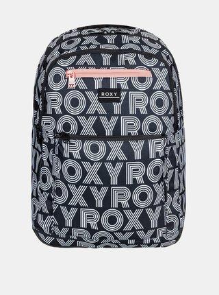 Čierny vzorovaný batoh Roxy
