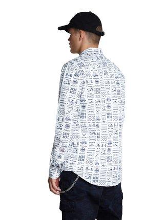 Desigual bílá pánská košile Cam Tirso