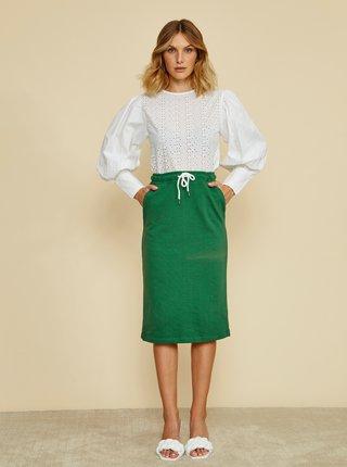 Zelená basic sukně ZOOT Baseline Vendelina