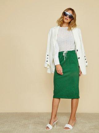 Zelená basic sukňa ZOOT Baseline Vendelina