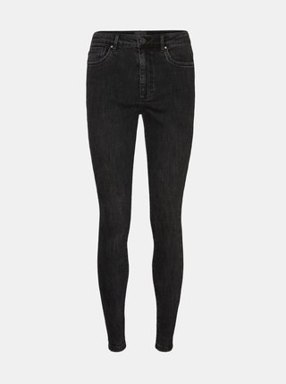 Černé dámské skinny fit džíny VERO MODA Loa