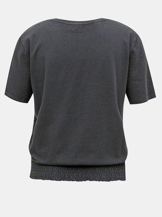 Tmavě šedé tričko Noisy May Seven