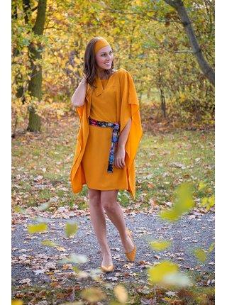 Simpo horčicové šaty Waterfall Yellow