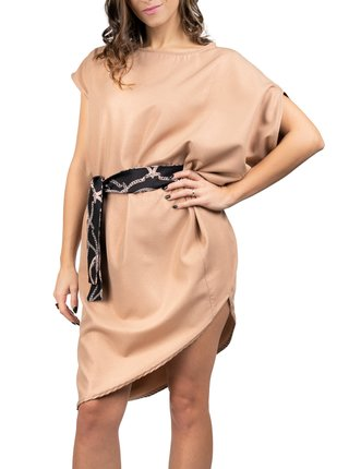 Simpo metalické asymetrické šaty Storm