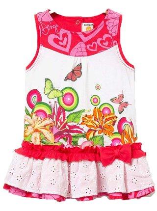 Desigual barevné dětské šaty Vest Mar