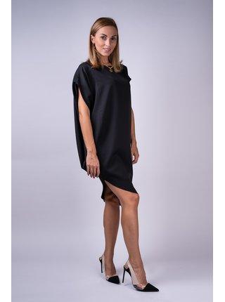 Simpo čierne asymetrické šaty Storm bez opasku