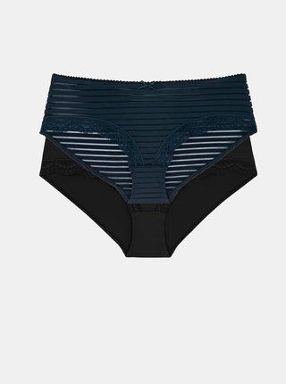 Sada dvou kalhotek v modré a černé barvě DORINA