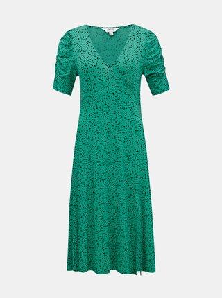 Zelené vzorované šaty Dorothy Perkins Petite
