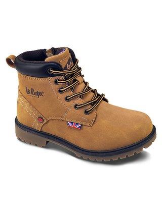 Lee Cooper hnedé chlapčenské topánky Brown Nut
