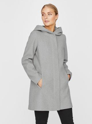 Šedý kabát s kapucou VERO MODA Dafne