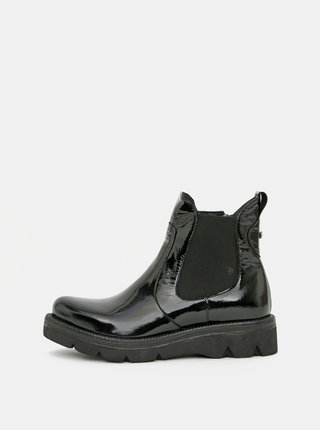 Černé dámské kožené chelsea boty WILD