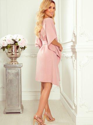 Růžové šaty se zavazováním numoco