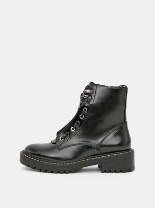 Čierne členkové topánky ONLY Bold