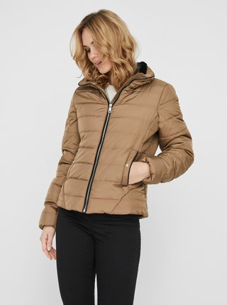 Béžová prešívaná zimná bunda VERO MODA Clarisa