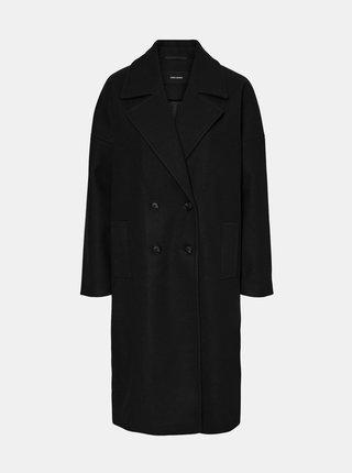 Čierny dlhý kabát VERO MODA Lola