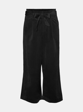 Čierne menčestrové culottes VERO MODA Londyn