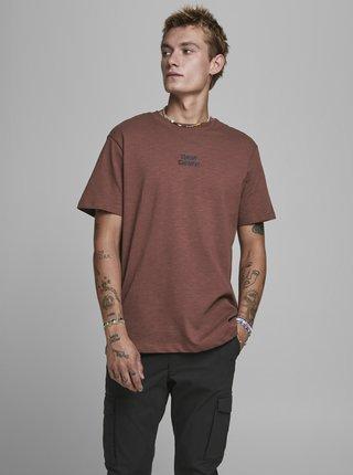 Hnědé tričko Jack & Jones Prbladean