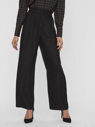 Čierne široké nohavice AWARE by VERO MODA Minna