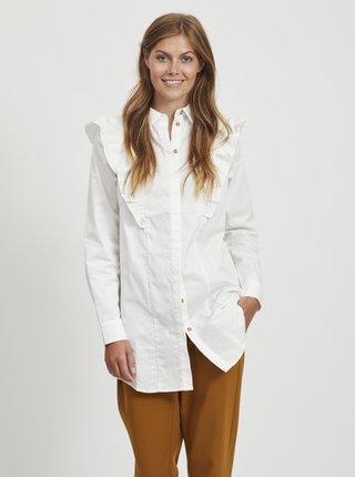 Biela košeľa s volánmi .OBJECT Gillian