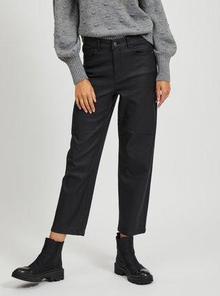 Černé zkrácené straight fit džíny s povrchovou úpravou .OBJECT