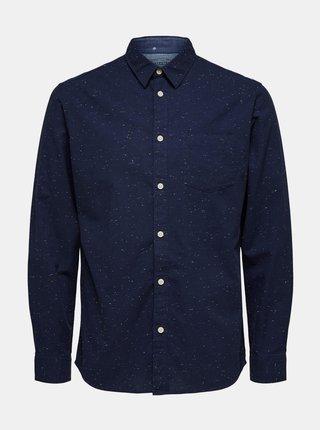 Tmavomodrá košeľa Selected Homme Kayden