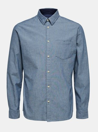 Modrá košeľa Selected Homme Homme Kayden
