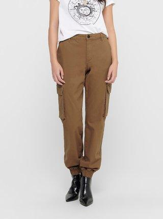 Hnědé kalhoty ONLY Madea