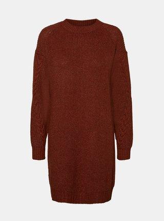 Hnědé svetrové šaty Noisy May Jimma