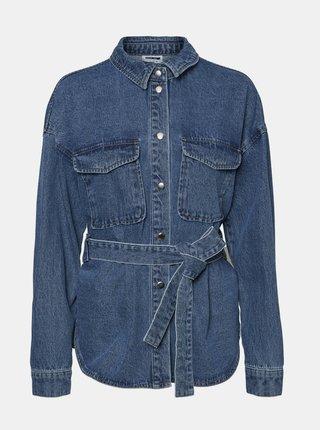Modrá džínová košile Noisy May Emily