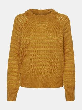 Horčicový sveter Noisy May Serena