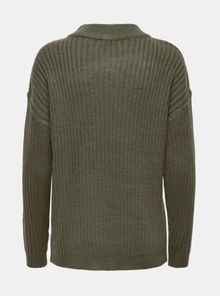 Khaki svetr Jacqueline de Yong Zofra