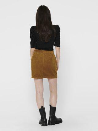 Hnedá menčestrová sukňa Jacqueline de Yong Kira