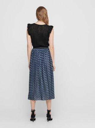 Modrá vzorovaná midi sukně Jacqueline de Yong Minique