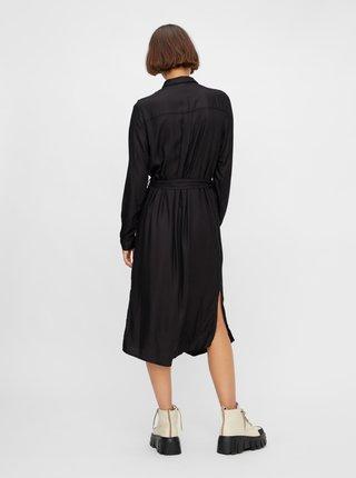 Čierne košeľové šaty Pieces Barbel