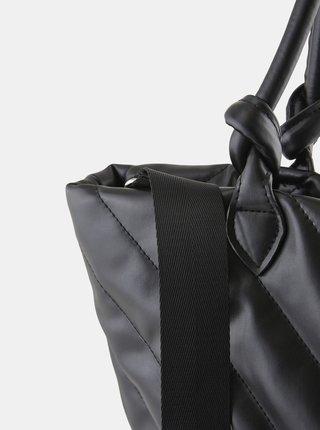Černá prošívaná kabelka Pieces Sonia